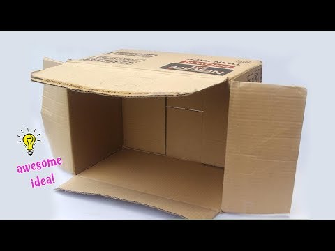Awesome Creative Idea With Cardboard Box| Easy Cardboard Box Idea That You Can Make At Home