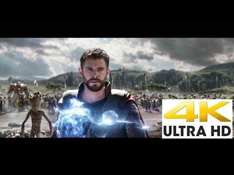 Thor arrives in wakanda Bring me Thanos scene