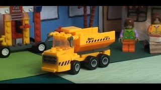 Cartoon children's construction machinery dumper Burbiki town