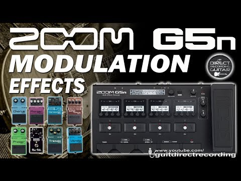 ZOOM G5n MODULATION - All Effects - Chorus, Phaser, Flanger, Harmonist...