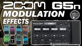 ZOOM G5n MODULATION - All Effects - Chorus, Phaser, Flanger, Harmonist...
