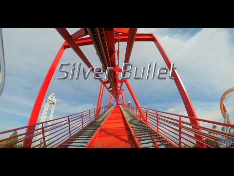 Silver Bullet Roller Coaster - Knott's Berry Farm - 4K POV - 2016