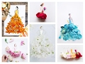 Real Flower Petals Fashion Design Illustrations Elisa DhZeno