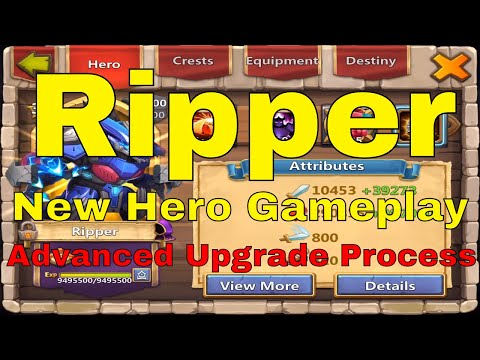 Castle Clash Ripper New Hero Advanced Upgrade Process And Gameplay