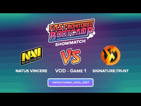 Na`Vi vs Signature TrusT @ AOC Bootcamp show-match - Game 1