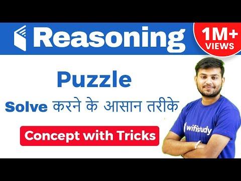 IBPS CLERK,RBI ASSISTANT I Puzzle Concept Tricks के साथ I Puzzle Solve करने के आसान तरीके