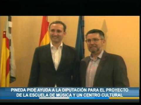 Pineda pide ayuda a la Diputación para el proyecto de la escuela de música y un centro cultural