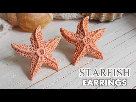 DIY Aquamarine Starfish Earrings Polymer Clay  //  Maive Ferrando