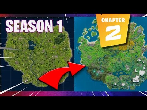 Evolution Of The Entire Fortnite Island! ALL Seasons + CHAPTER 2 Map