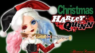 Christmas Harley Quinn - Doll Repaint Tutorial