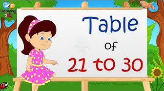 Learn Multiplication - Table of 21 to 30