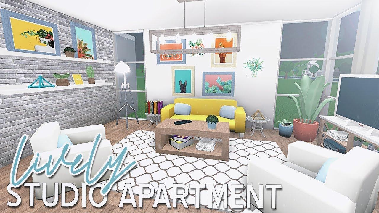 Roblox Bloxburg Lively Studio Apartment 48k Youtube