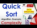 Quick Sort Explanation with Working Exam