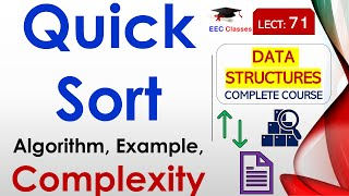 vuclip Quick Sort Explanation with Working Example in Hindi and English