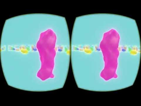 VR Music Visualizer (glowing frequency shapes in HMD)
