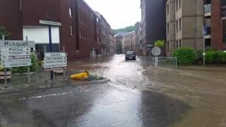 Inondations  à Dison  06/06/2016