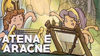 Atena e Aracne: La Ragazza che sfidò una Dea - Mitologia Greca - Storia e Mitologia Illustrate