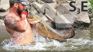 Handfishing Giant Flatheads - Noodling River Monsters S3E8