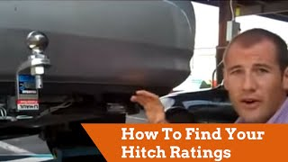 How To Find Your Hitch Ratings For Towing U-Haul Trailers