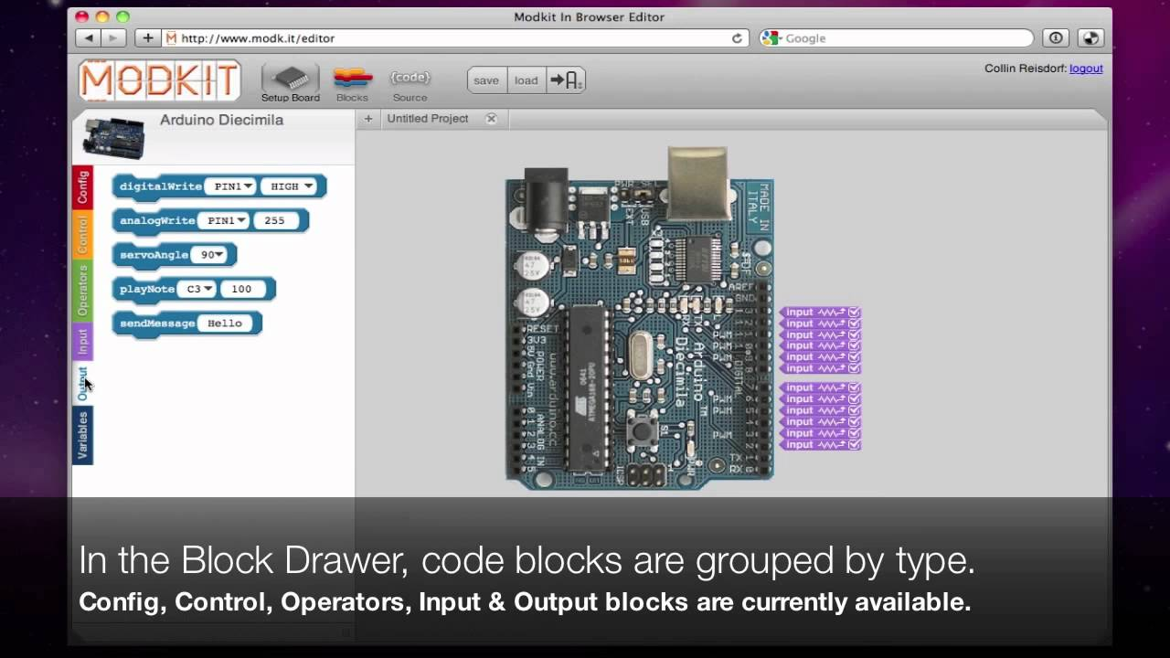 Visual programming for Arduino |