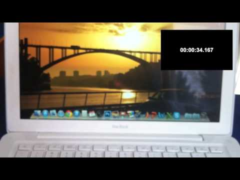 Macbook white late 2009 benchmark: HD hybrid vs SSD