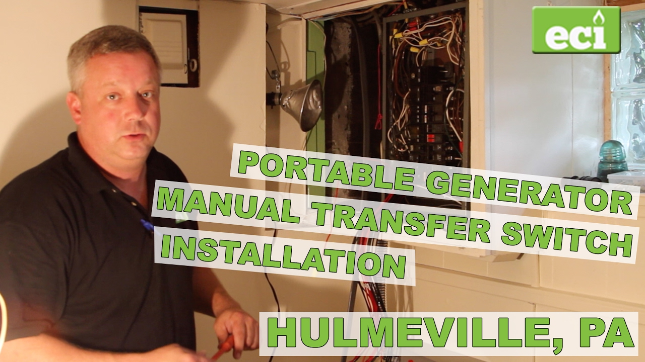 Portable Generator And Manual Transfer Switch Installation Wiring Schematic Hulmeville Pa