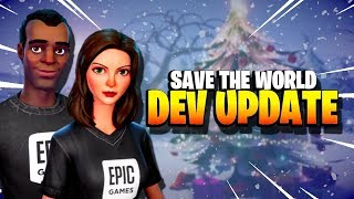 EPIC ARE ON FIRE! *NEW* Dev Update for Fortnite Save the World