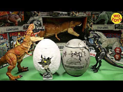 New Jurassic World Surprise Eggs Fallen Kingdom Movie Exclusive Souvenir Unboxing WD Toys Universal