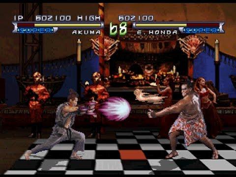 Street Fighter: The Movie [PS1] - play as Akuma