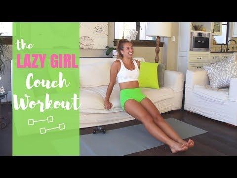 The Lazy Girl COUCH Workout | Katie Austin