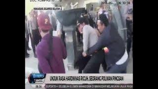 Seorang Polwan di Makassar Pingsan saat hadapi Pengunjukrasa HARDIKNAS