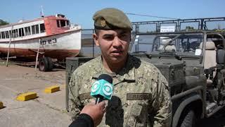 Un soldado de 22 años rescató a una mujer de las aguas del Puerto de Salto