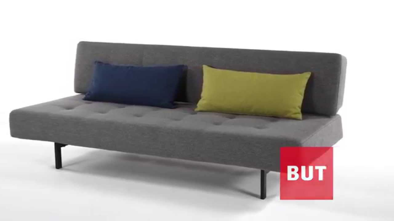 banquette lit gris clair chloe but youtube. Black Bedroom Furniture Sets. Home Design Ideas