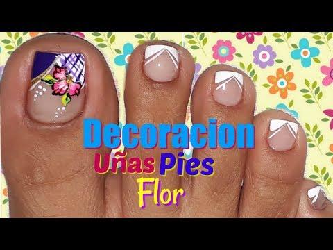 Decoraci n de u as flor f cil nail decoration flower easy for Decoracion facil de unas