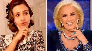 Lola Poggio, la joven actriz que hace de Mirtha Legrand en ATAV