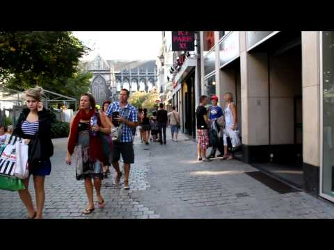 Walking through the streets of Liege