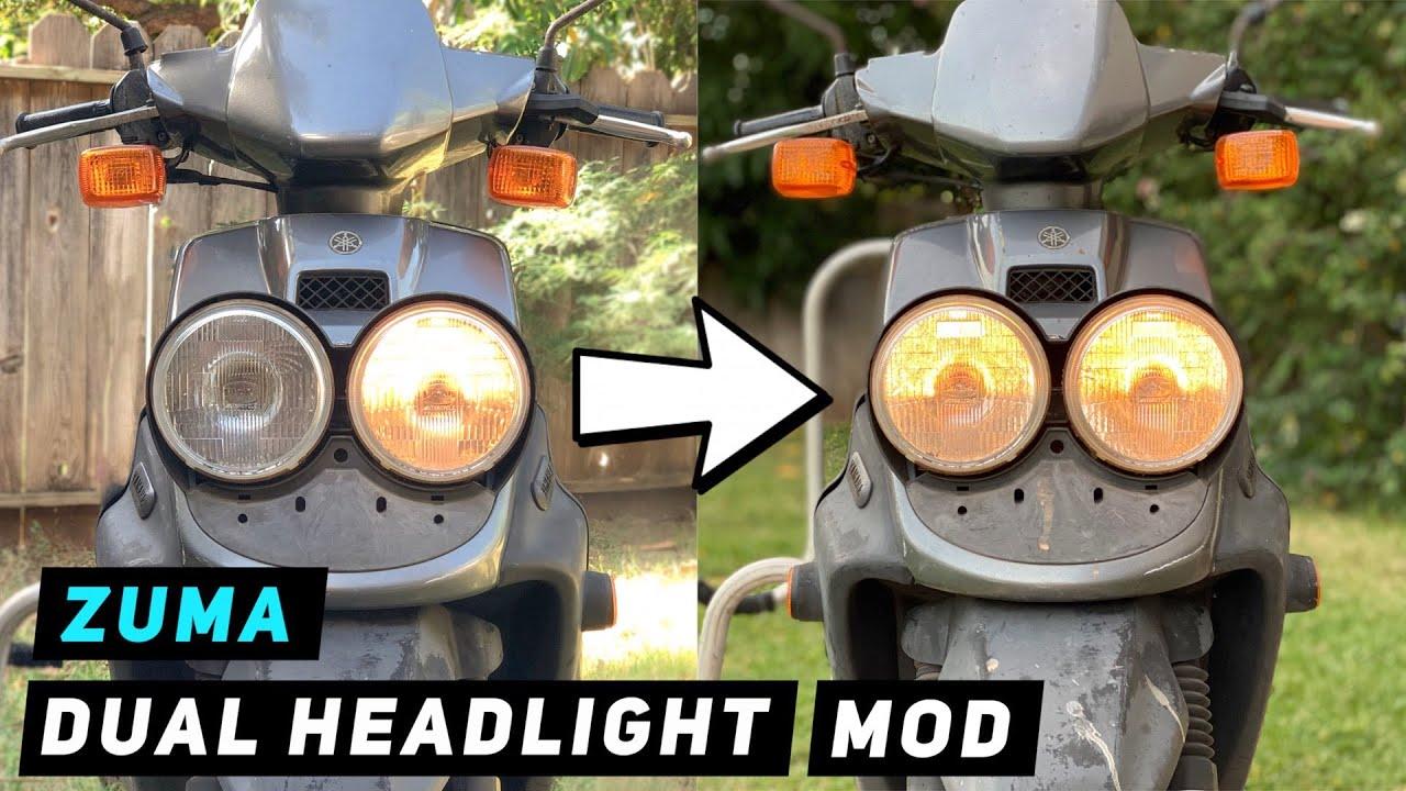 Yamaha Zuma 50 Dual Headlight Mod   Mitch's Scooter Stuff
