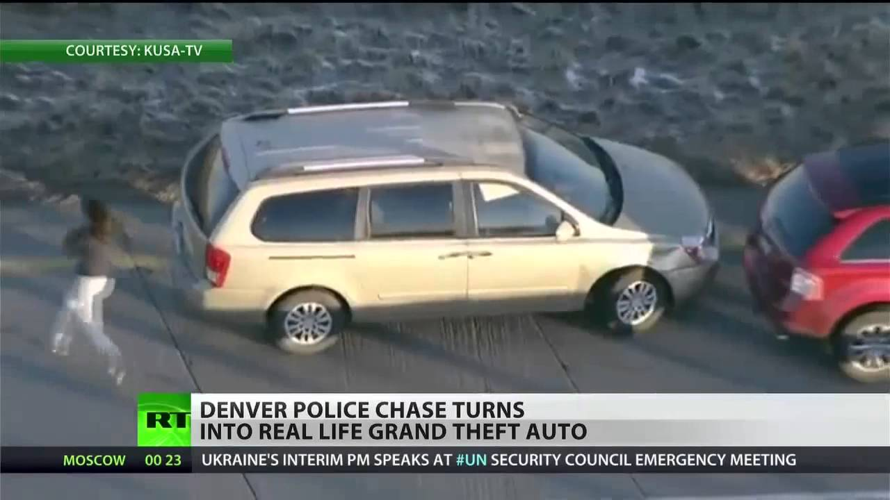 Man steals cars, leads Denver PD on high-speed chase