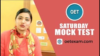 Saturday Mock Test | OET Class | Captain Yasmin Malik