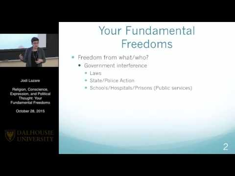 Mini Law School - Religion Conscience, Expression and Political Thought: Your Fundamental Freedoms