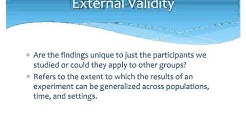Internal versus External Validity