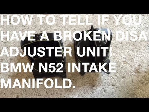 BMW E90 N52 Broken DISA Valve / Adjuster Unit - Three Stage Intake