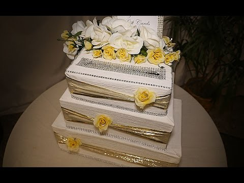 diy wedding cake gift card box diy wedding cake card box 13633