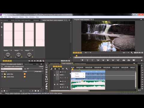 Adobe Premiere Pro CC Tutorial   Adjusting Audio Volume And Panning In The Timeline