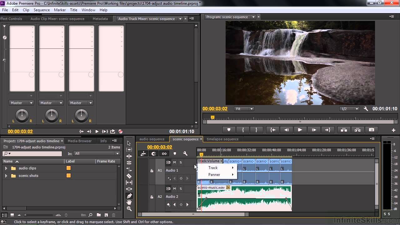 Adobe premiere pro cc tutorial adjusting audio volume and panning adobe premiere pro cc tutorial adjusting audio volume and panning in the timeline youtube ccuart Choice Image