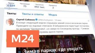 Смотреть видео Мэр Москвы пригласил жителей столицы на ледовые спектакли - Москва 24 онлайн