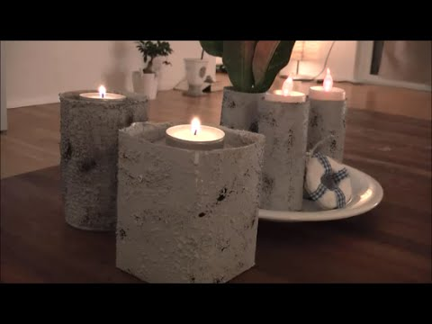 diy mit strukturpaste beton imitieren windlichter vasen. Black Bedroom Furniture Sets. Home Design Ideas