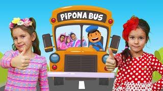 PIPONA. Лера Вика и Песня про автобус. (караоке)