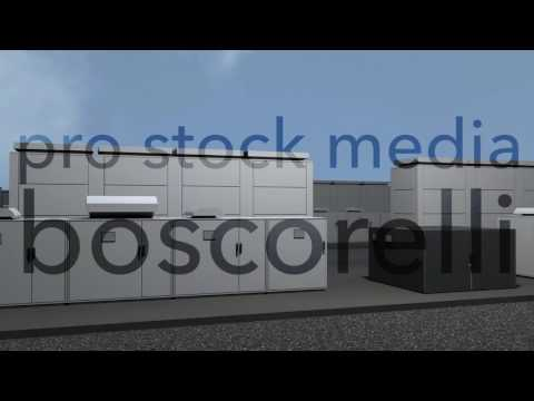 NAS Battery Park Energy Storage Station Photorealistic 3D Animations And 3D Models