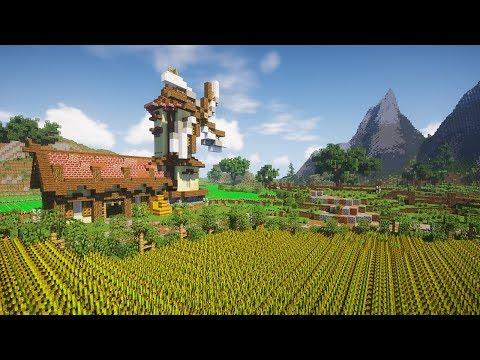 Transforming A Plains Biome | Minecraft Farm Build Timelapse [DOWNLOAD]
